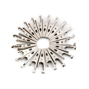 20x Stainless Steel Alligator Crocodile Test Clips Cable Lead Screw Probe_fix mo