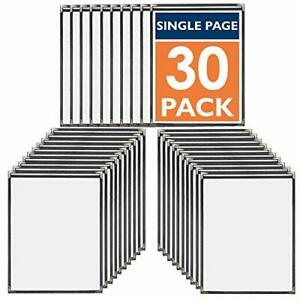 30 Pack Of Menu Covers Single Page 2 View Fits 8 5 X 11 Inch Paper