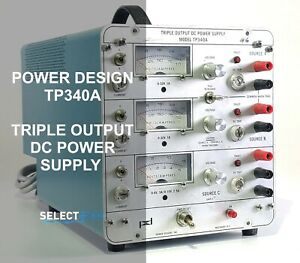 Power Design Tp340a Triple Output Bench Dc Power Supply look ref G