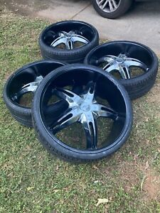 26 Inch Rims With Brand New Tires Willing To Trade For 22s Need To Fit Cadillac