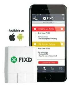 Fixd Obd 2 Obdii Bluetooth Check Engine Light Code Reader Scanner Iphone Android