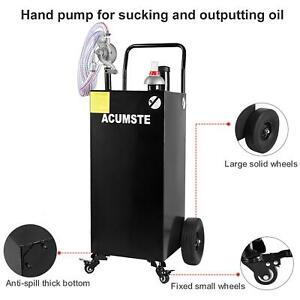 35 gallon Gas Caddy Fuel Diesel Dispense Transfer Portable Tank Container Us