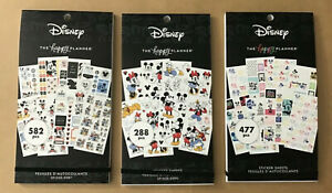 New The Happy Planner Disney Mickey Mouse Set Of 3 Value Pack Sticker Books
