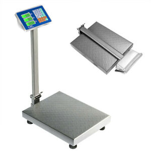 Gymax 660lbs Weight Platform Scale Digital Floor Folding Scale Postal Shipping