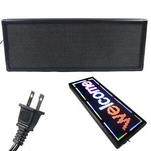 Led Scrolling Sign 40 x15 Advertising Message Display Board Us Stock