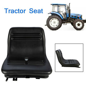 Pvc Lawn Mower Tractor Suspension Seat Forklift Mower Seat Slidable Black