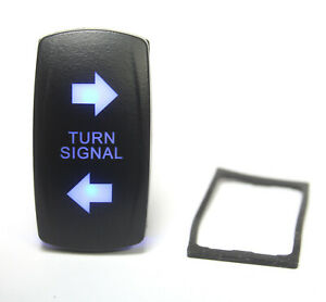 Blue Illuminated Turn Signal W Arrows Lighted Switch Rocker Spdt 20a 12vdc 4pin