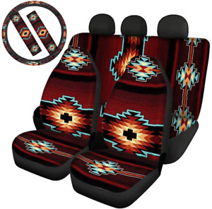 Jeocody Southwestern Native American Car Seat Covers With Steering Wheel Cover S