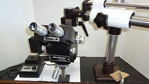 B l Bausch Lomb Microzoom Long Wd On Boom Stand newport Table Mount