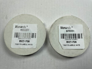 Monarch 92551 Pricing Labels White For 1155 1170 2 Rolls