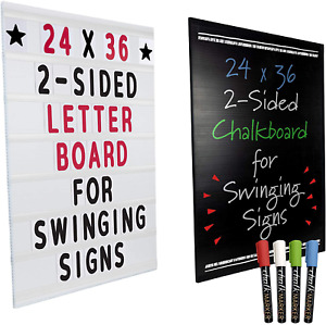 24x36 Replacement Changable Letter Message Board For Swinging Signs Includes