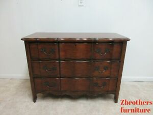 Thomasville French Country Serpentine Commode Chest Dresser Console