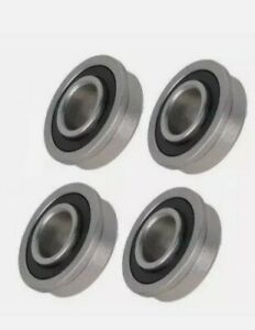 Four Pack Of Precision Sealed Flanged 1 3 8 Od Bearings 5 8 Id
