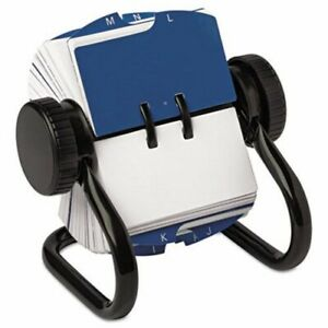 Rolodex Open Rotary Card File Holds 250 1 3 4 X 3 1 4 Cards Black rol66700