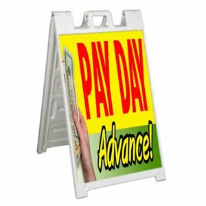 Pay Day Advance Signicade 24x36 Aframe Sidewalk Sign Banner Decal Loans