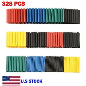 328 Pcs Heat Shrink Tubing Assortment Kit 2 1 Wire Insulation Cable Wrap Usa