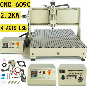 6090gz Usb 6090 Router 4 Axis Engraver Milling Machine Carving Machine 2 2kw New