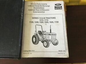 Ford Nh 1215 1715 1120 1220 1320 1520 1620 1720 Tractor Service Parts Catalog