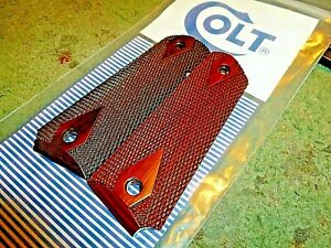 COLT 1911 45 FULL SIZE ROSEWOOD DOUBLE DIAMOND CHECKERED GRIPS WITH AMBI NEW $21.99