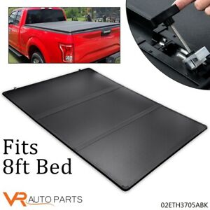 Tri Fold Hard Tonneau Cover Fit For Dodge 02 18 Ram 1500 2500 3500 8ft Long Bed