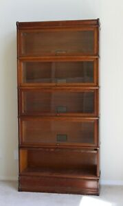 Globe Wernicke Five Stack Barrister Lawyers Bookcase Plus Top And Base Rare