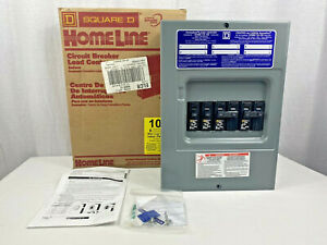 New Square D Hom612l100scp 100a 1 phase 3 wire Plug in Box W Breakers Included