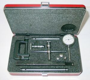 Starrett Dial Indicator With Case Attachments 196a1z 196 Back Plunger Kit