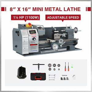 Benchtop Mini Metal Lathe Cutter For Metal And Woodworking 8 x16 1100w 2250rpm