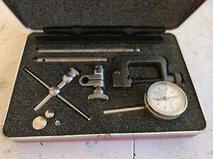 Starrett No 196 Universal Dial Test Indicator In Case Complete