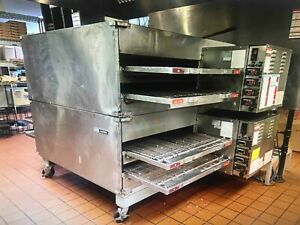 Lincoln Impinger X2 3262 2 Double Stack Nat Gas Commercial Conveyor Pizza Oven