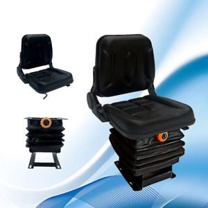 Lawn Garden Forklift Tractor Seat Pvc With Suspension Adjustable Back Rest New