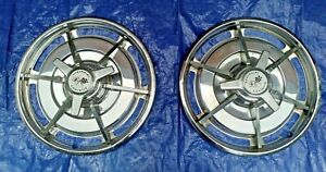 Two 1963 Chevrolet Corvette Original Hubcaps With Spinners