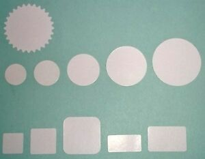 Blank White Price Point Stickers For Market Shop Retail Sticky Labels Tags