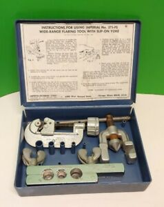 Imperial Eastman Tubing Wide range Flaring Tool Kit No 375 fs With Box Usa
