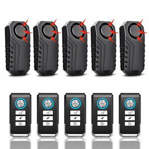 Bike Wireless Alarm Lock Bicycle Security System Anti theft Remote Control 5pack