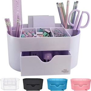 Acrylic Desk Organizer For Office Supplies And Desk Accessories Pen Holder For