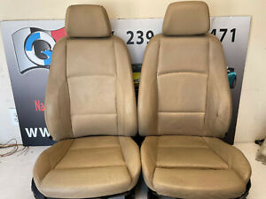 Bmw Leather Heated Sport Seat Front Pair E88 E82 128i 135i Coupe Convertible