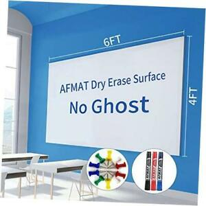 6 x4 Whiteboard Paper White Board Adhesive Wallpaper Large Dry Erase 6x4 Ft