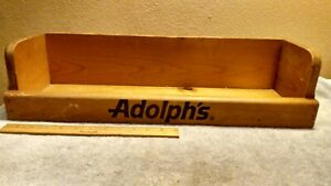 Vintage 1950 s Adolph s Spices Wooden Store Display Shelve Burnt In Logo L k