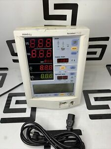 Mindray Datascope Accutorr Plus Patient Bedside Vitals Monitor 0998 00 0444 j81