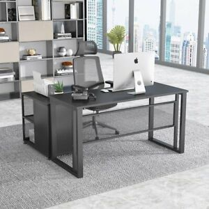 Home Office Computer Desk Study Writing Table Workstation W Mobile File Cabinet