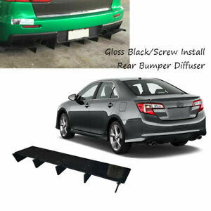 23x5 Rear Underbody Air Diffuser Shark Fin Fit For Toyota Camry 2012 2014