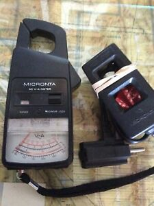 Portable Mobile Micronta Ac V a Clamp Meter 22 161a Used