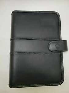 Day One Franklin Covey Black Leather 7 Ring Planner