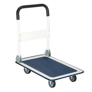 Platform Cart Dolly Folding Moving Luggage Shopping Cart Hand Truck 330 Lbs Load