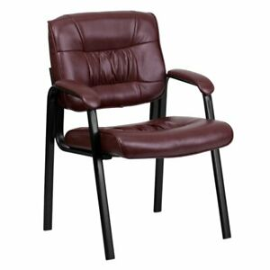 Symple Stuff Leather Guest Chair Burgundy Msrp 188 25