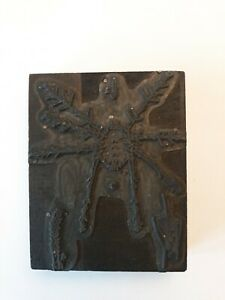 Spider Insect Science Curiosity Vintage Letterpress Printing Block