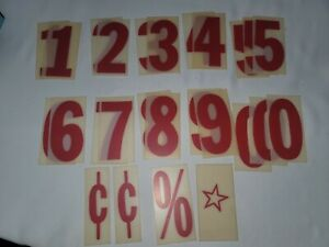 Vintage Outdoor Plastic Sign Letters Numbers Marquee 4 Menu Message Board