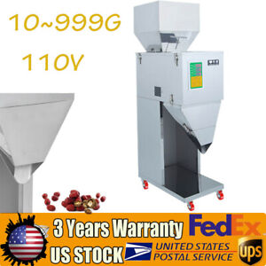 10 999g Auto Powder Racking Filling Machine Weigh Filler For Tea seed grain 110v