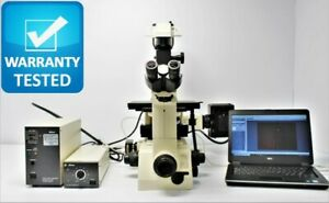 Nikon Diaphot 300 Inverted Fluorescence Phase Contrast Microscope